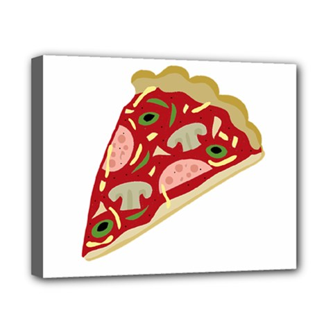 Pizza slice Canvas 10  x 8