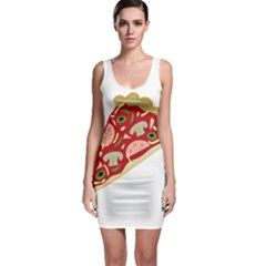 Pizza slice Sleeveless Bodycon Dress