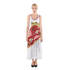 Pizza slice Sleeveless Maxi Dress