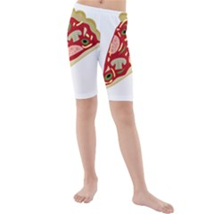 Pizza slice Kids  Mid Length Swim Shorts