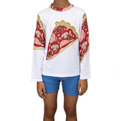 Pizza slice Kids  Long Sleeve Swimwear