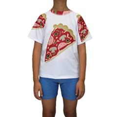 Pizza slice Kids  Short Sleeve Swimwear