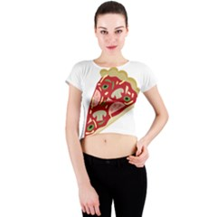 Pizza slice Crew Neck Crop Top