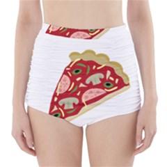 Pizza slice High-Waisted Bikini Bottoms