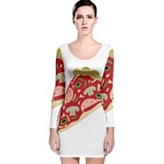 Pizza slice Long Sleeve Velvet Bodycon Dress