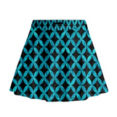CIR3 BK-TQ MARBLE Mini Flare Skirt
