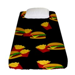 Hamburgers And French Fries Pattern Fitted Sheet (single Size)