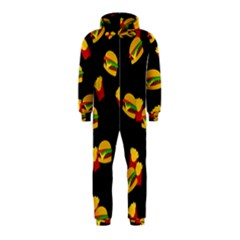 Hamburgers and french fries pattern Hooded Jumpsuit (Kids)