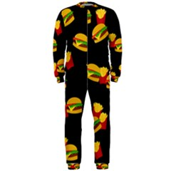 Hamburgers and french fries pattern OnePiece Jumpsuit (Men)