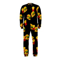Hamburgers and french fries pattern OnePiece Jumpsuit (Kids)