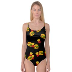 Hamburgers and french fries pattern Camisole Leotard