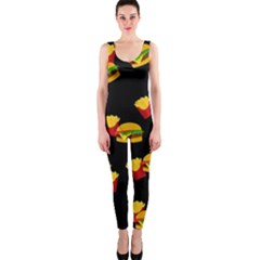 Hamburgers and french fries pattern OnePiece Catsuit