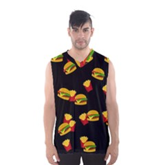 Hamburgers and french fries pattern Men s Basketball Tank Top