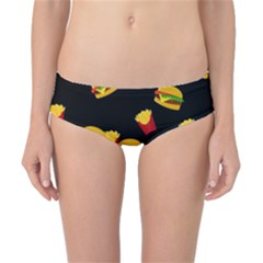 Hamburgers and french fries pattern Classic Bikini Bottoms