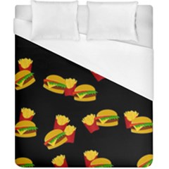 Hamburgers and french fries pattern Duvet Cover (California King Size)