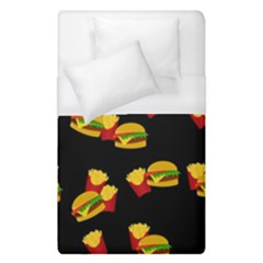 Hamburgers and french fries pattern Duvet Cover (Single Size)