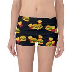 Hamburgers and french fries pattern Reversible Bikini Bottoms