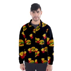 Hamburgers and french fries pattern Wind Breaker (Men)