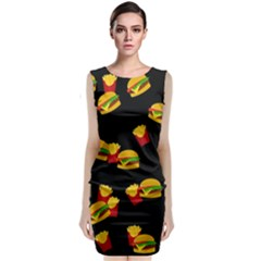 Hamburgers and french fries pattern Classic Sleeveless Midi Dress