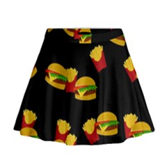 Hamburgers and french fries pattern Mini Flare Skirt