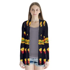 Hamburgers and french fries pattern Cardigans