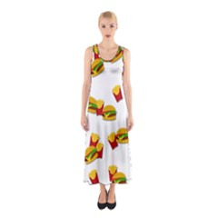Hamburgers and french fries  Sleeveless Maxi Dress