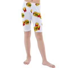 Hamburgers and french fries  Kids  Mid Length Swim Shorts