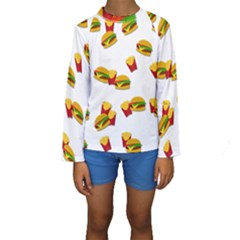 Hamburgers and french fries  Kids  Long Sleeve Swimwear