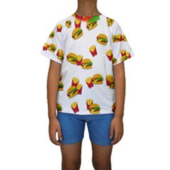 Hamburgers and french fries  Kids  Short Sleeve Swimwear