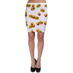 Hamburgers and french fries  Bodycon Skirt