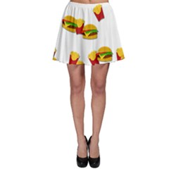 Hamburgers and french fries  Skater Skirt