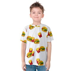 Hamburgers and french fries  Kids  Cotton Tee
