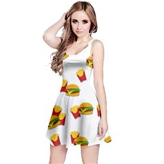 Hamburgers and french fries  Reversible Sleeveless Dress