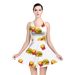 Hamburgers and french fries  Reversible Skater Dress