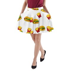 Hamburgers and french fries  A-Line Pocket Skirt