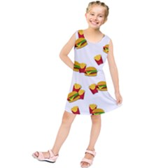 Hamburgers And French Fries  Kids  Tunic Dress