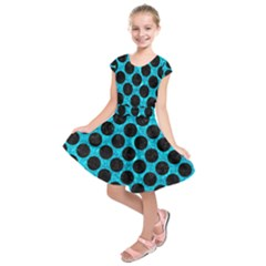 CIR2 BK-TQ MARBLE (R) Kids  Short Sleeve Dress