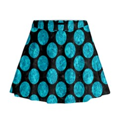CIR2 BK-TQ MARBLE Mini Flare Skirt