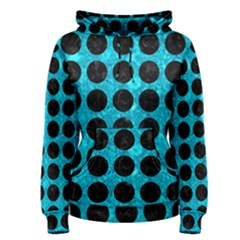 Circles1 Black Marble & Turquoise Marble (r) Women s Pullover Hoodie