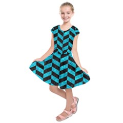 CHV1 BK-TQ MARBLE Kids  Short Sleeve Dress