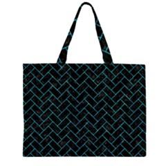 BRK2 BK-TQ MARBLE Large Tote Bag