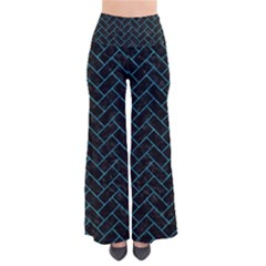 Brick2 Black Marble & Turquoise Marble So Vintage Palazzo Pants