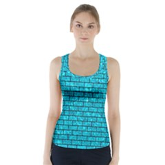 BRK1 BK-TQ MARBLE (R) Racer Back Sports Top