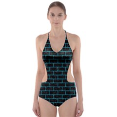 BRK1 BK-TQ MARBLE Cut-Out One Piece Swimsuit