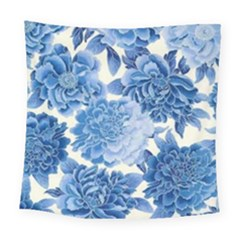 Blue Flower Square Tapestry (large)
