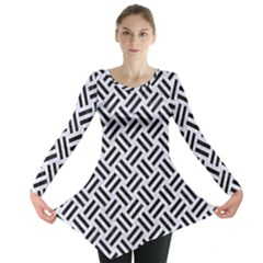 WOV2 BK-WH MARBLE (R) Long Sleeve Tunic