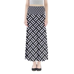 Woven2 Black Marble & White Marble Full Length Maxi Skirt