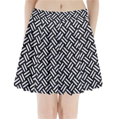 WOV2 BK-WH MARBLE Pleated Mini Skirt