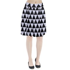 TRI3 BK-WH MARBLE Pleated Skirt