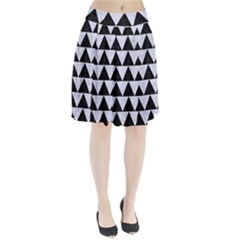 TRI2 BK-WH MARBLE Pleated Skirt